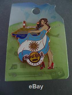 Hard Rock Cafe USHUAIA 2015 Flag & Landmark Worldwide HRC Girl Series Pin