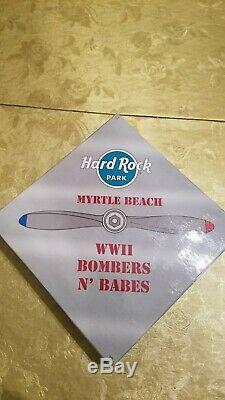 Hard Rock Myrtle Beach Park Collectors Pin Set Bombers And Babes Limited To 300