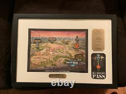Hard Rock Park Myrtle Beach Framed Grand Opening Pin Set Limited Edition