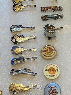 Hard Rock Pin Lot 94 Guitars Closed Cafes 10 Plus LE Orlando Vault Malta Kona HI