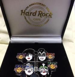 Hard rock cafe Universal city walk 5th Anniversary kiss Kiss pin badge set New