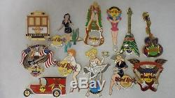 Hard rock cafe pins 100 pins, all 2005 or before, includes U. S. And intertnal