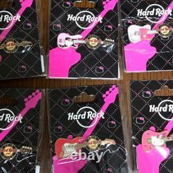 Hello Kitty Hard Rock CAFE PIN Fender Guitar Japan Limited Rare version x 6
