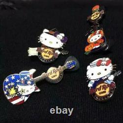 Hello Kitty Hard Rock Cafe Yokohama Limited Rare PIN from JAPAN