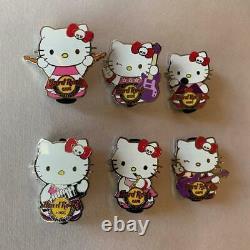 Hello Kitty x Hard Rock Cafe Band Pin Badge 6 Ueno Station Tokyo Japan