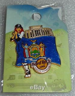 Hrc Yankee Stadium Ny Landmark Flag Girl Series 2015 Hard Rock Cafe Unopened Pin