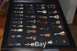 Huge Display Case with HTF Hard Rock Cafe Pin Collection Look