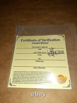 Joe Petruccio signed #d 50 Hard Rock Park Framed Pin Set Rare Rocksie's Heaven