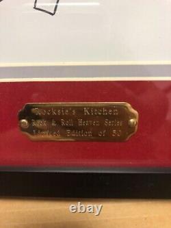Joe Petruccio signed #d 50 Hard Rock Park Framed Pin Set Rare Rocksie's Kitchen
