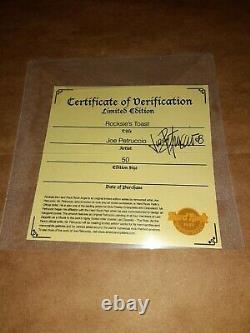 Joe Petruccio signed #d 50 Hard Rock Park Framed Pin Set Rocksie's Toast 2008