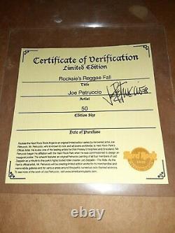 Joe Petruccio signed #d Hard Rock Park Framed Pin Set Rare Rocksie's Reggae Fall