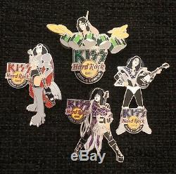 KISS Hard Rock Cafe Pins Kuala Lumpur Complete Set LE 200 Very Rare