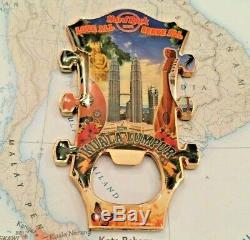 KUALA LUMPUR MALAYSIA Hard Rock Cafe HRC Metal Magnet GUITAR HEAD OPENER