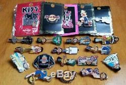 Kiss / Hard Rock Cafe Pins (lot Of 20 Various Pins) Nba / Miami / Orlando
