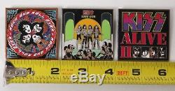 Kiss Hard Rock Cafe Style Album Pin Set Of 3 By Kissonline 2006 Official