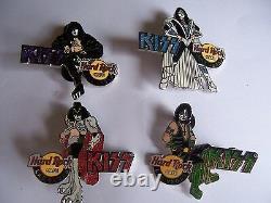 Kiss Las Vegas Series 2005 Hard Rock Cafe Pin Set Of 4 Limited Edition 300 Rare