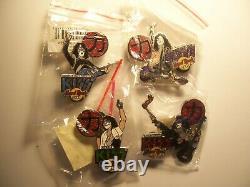 Kiss Vol. #7 Japan Salute Series 2005 set of 4 Hard Rock Cafe Pins LE 750