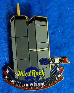 LAS VEGAS HOTEL SEPT 11th 9-11 WORLD TRADE CENTER TWIN TOWERS Hard Rock Cafe PIN