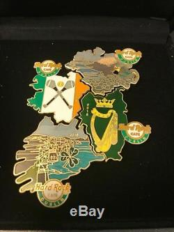 LE 300 2018 Map of Ireland Set of 4 Hard Rock Cafe Pin Dublin Exclusive RARE