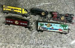 LOT of 5 EXTREMELY RARE PINS Hard Rock Cafe SAN JUAN, pin Train Set 2007 Chain