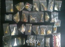 Large Collection of HARD ROCK CAFE Badges/Pins with London menu