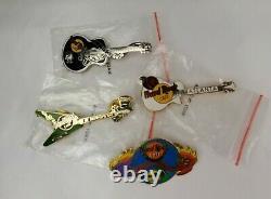 Lot of 21 Hard Rock Cafe Pins Various Locations Guitars Buildings Juke Box Etc