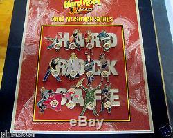 MELBOURNE MUSICIANS LETTER PUZZLE SET 30TH ANNIVERSARY HRC Hard Rock Cafe PINS