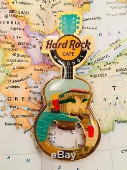 MYKONOS GREECE Hard Rock Cafe PINCRAFT Guitar Magnet HRC BO CLOSED CAFE