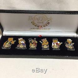 Mint Hard Rock Cafe Osaka 6Th Anniversary Bear Pin Badge Set