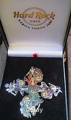 NARITA TOKYO 2006 KISS TOTEM PUZZLE BAND MEMBERS SET BOXED Hard Rock Cafe PIN LE