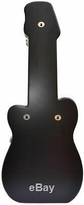 NEW Hard Rock Cafe GUITAR SHAPED Black Display Case for PINS! 31 x 12.6 x 2.2