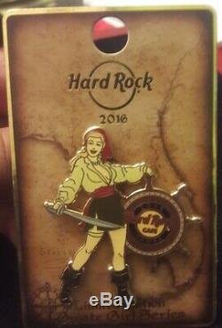 NIC Lot of 7 Hard Rock Cafe 2016 Sexy Pirate Girl Series Pins. ALL DIFFERENT VHTF