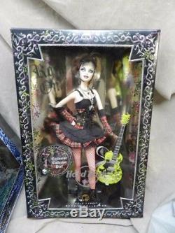 NRFB Gold Label HARD ROCK CAFE Barbie DOLL 2008 w Ltd Exclusive HRC Pin & Guitar