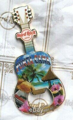 New Hard Rock Cafe PUNTA CANA HOTEL Guitar MAGNET Bottle Opener City Tee T-Shirt