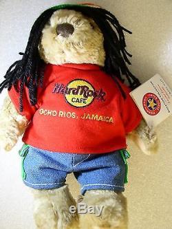OCHO RIOS JAMAICA, Hard Rock Cafe, Local Dress Teddy Bear # 1122