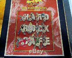 PHOENIX 12 MUSICIANS LETTER PUZZLE SET 30TH ANNIVERSARY HRC Hard Rock Cafe PINS