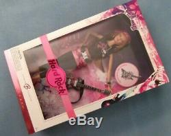 Pink Label Hard Rock Cafe Barbie Doll & Guitar Collector Pin Necklace & Earrings