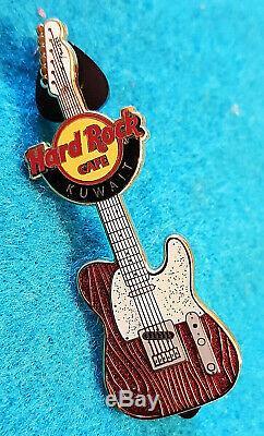 RARE KUWAIT BURGUNDY RED FENDER ERA TELECASTER GUITAR SERIES Hard Rock Cafe PIN