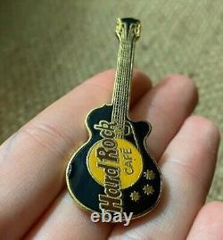 RARE Lot of 2 Original Hard Rock Cafe Pins Logo & Les Paul Black Guitar Vtg