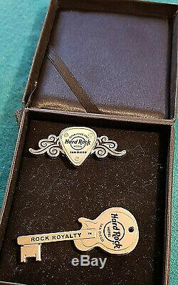 RARE SAN DIEGO HOTEL STAFF CONDO OWNER'S BOXED SET SILVER Hard Rock Cafe PIN