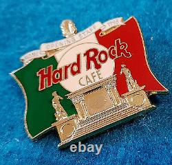 ROME ITALY STAFF OPENING ROMAN MONUMENT ITALIAN FLAG 98 Hard Rock Cafe PIN LE