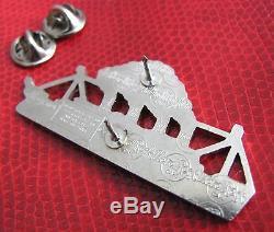 Rare Belfast Titanic Hard Rock Cafe Pin Limited Silver Edition White Star Ship