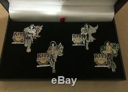 Rare Grand Opening Hard Rock Cafe Narita Tokyo 2006 Kiss 4 Pin Badge Set