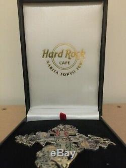 Rare Hard Rock Cafe Narita Tokyo 2006 Limited Edition Kiss 4 Pin Badge Set