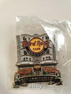 STAFF Hard Rock Cafe 50th Anniversary London Facade Original Park Lane Pin