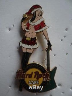 Very Rare Hard Rock Cafe Catania Sicily Christmas 2004 Sexy Girl Pin