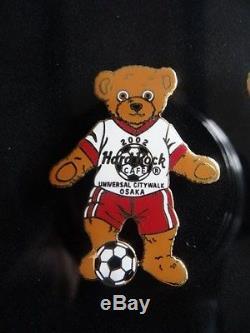 Very Rare Hard Rock Cafe Pin Set Of 9 Japanese 2002 Fifa Soccer Bear Team