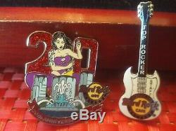 Very Rare Lot Of 6 Hard Rock Cafe ORLANDO ALL STAFF PINS ALL DIFFERENT