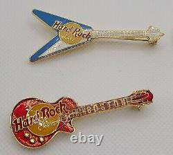 Vintage Hard Rock Cafe Guitar Pin Lot Of 8 From the 1990s Boston Honolulu + More