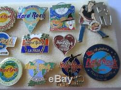 W2 lotto 15 spille HARD ROCK CAFE badge broches spilla perno lot pins